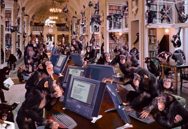 Monkeys typing